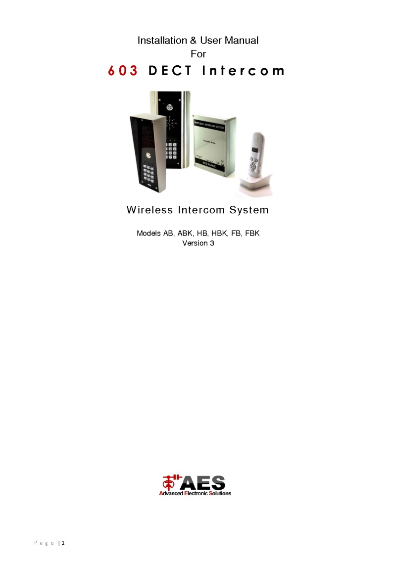 603 DECT Installation Manual