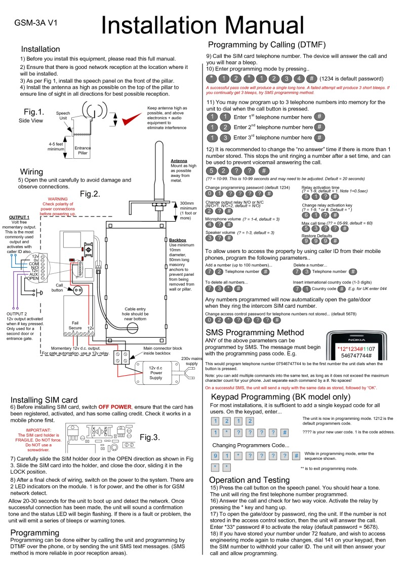 AES GSM-3A manual
