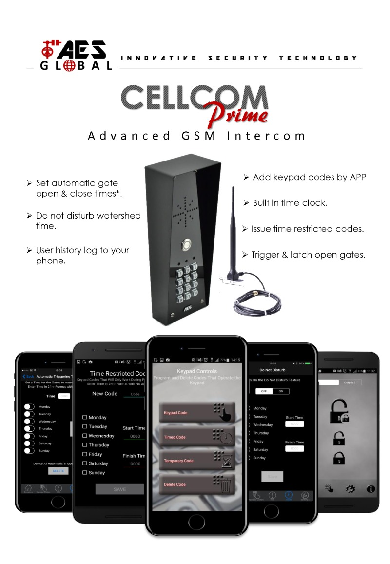 GSM Prime Intercom Kit by AES Global