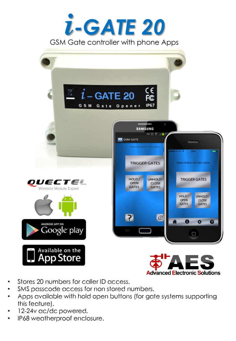 AES GSM Gate controller with phone Apps
