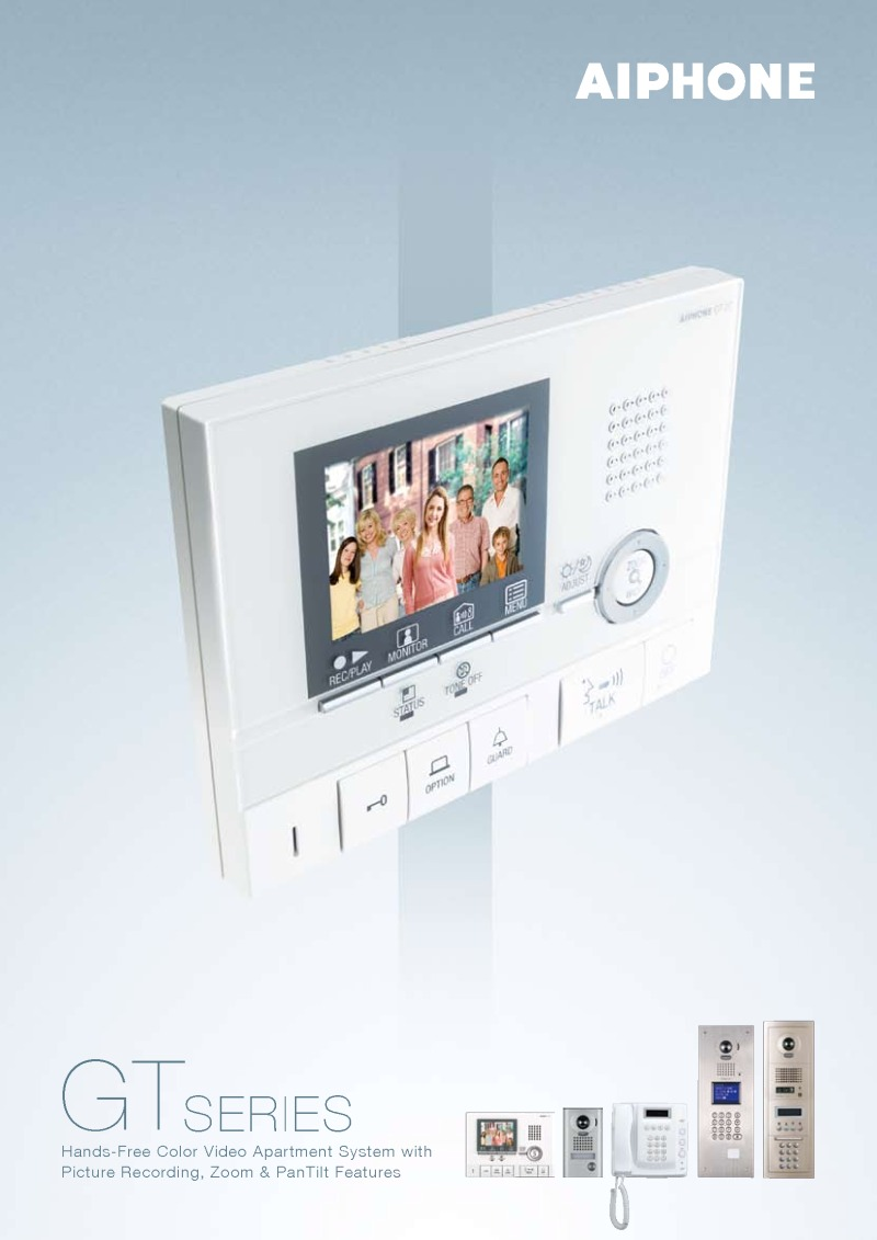 Aiphone - 7 Way Flush Analogue Video Entry Panel