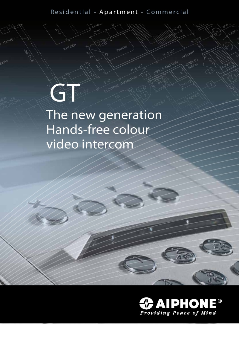 Aiphone GT Video monitor brochure