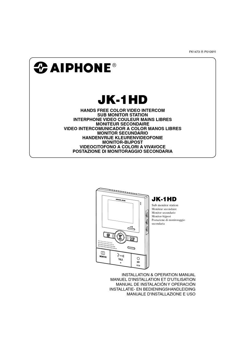 Aiphone Installation Instructions Lef 3l Wiring Diagram Jk 1hd Operation Manual