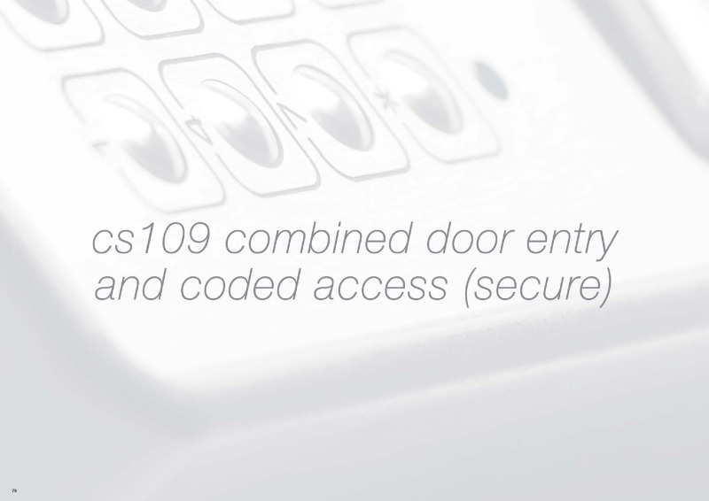 Bell (BSTL) CS109 Combined Door Entry and Coded Access (secure) Brochu
