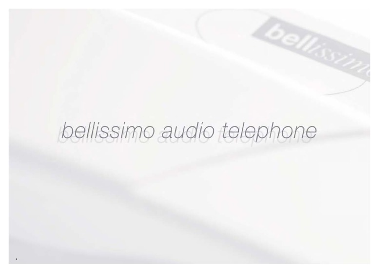 Bell (BSTL) bellissimo audio telephone brochure