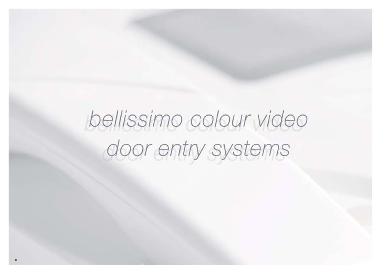 Bell (BSTL) bellissimo video systems brochure