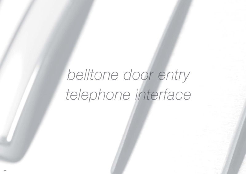 BELL - Belltone door entry system with BLP1