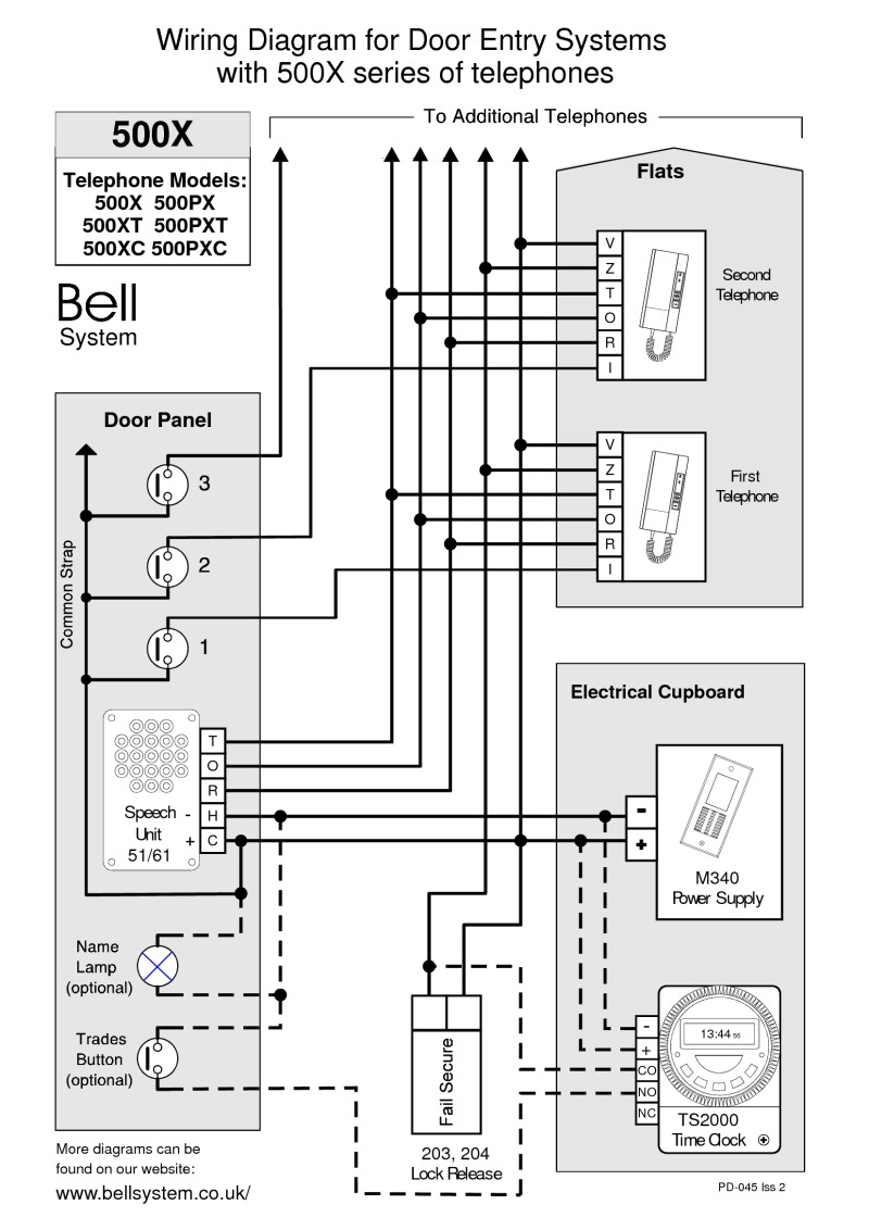 Wiring Diagram For Bell Door Entry System : Bell wiring diagrams