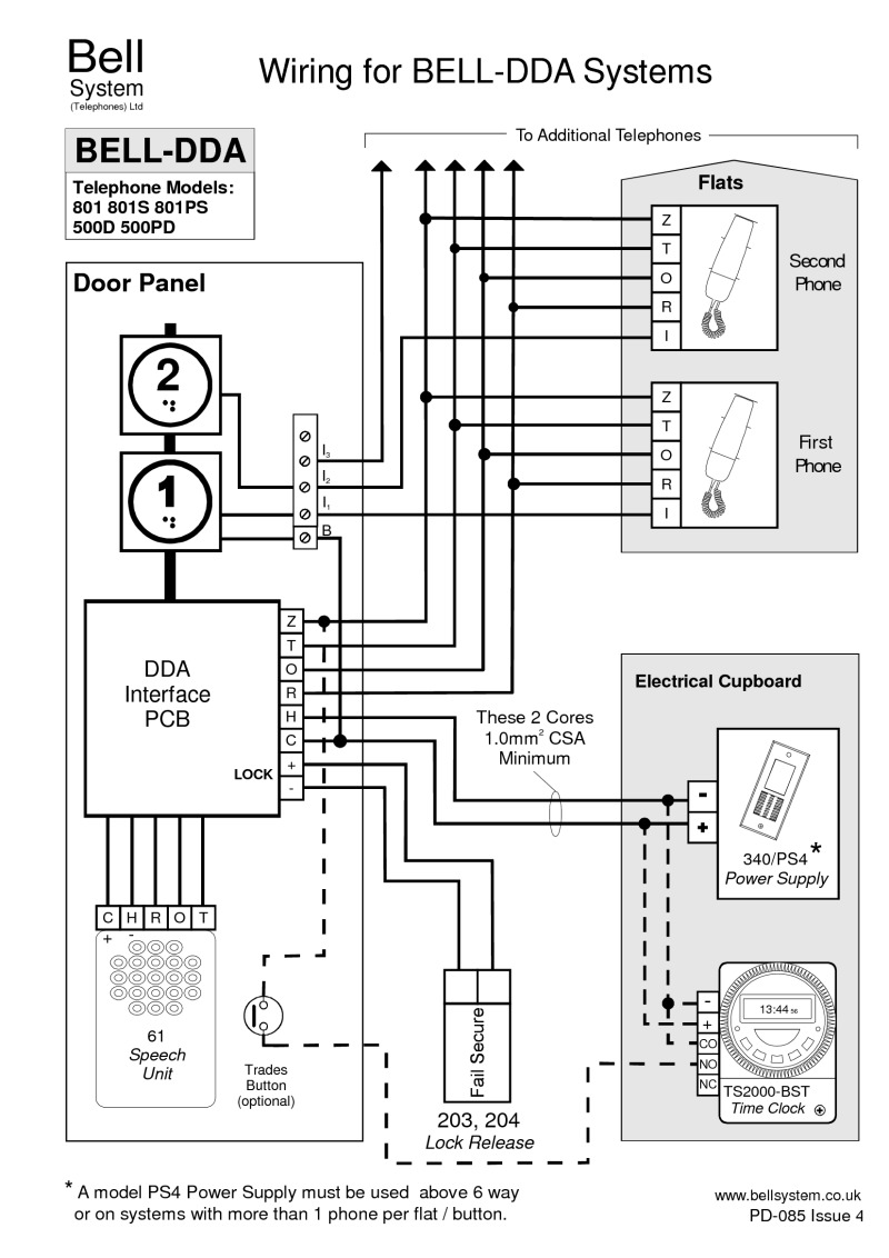 Bell DDA wiring diagram for DDA-n Systems