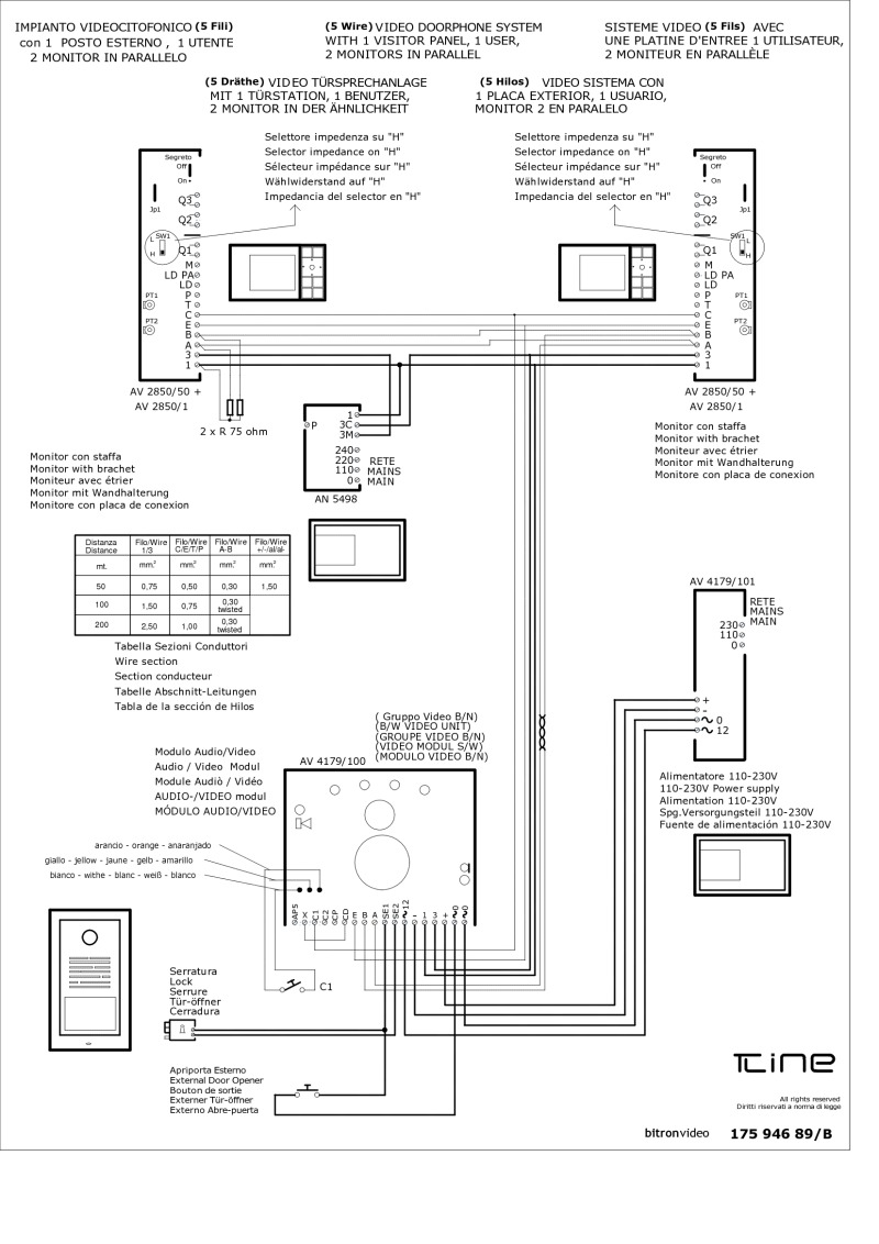 bitron video intercom wiring diagram   36 wiring diagram