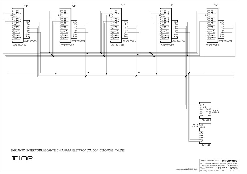 179 233 18N_intercom 5 Tline elec bitron wiring diagrams intercom wiring diagram at bakdesigns.co