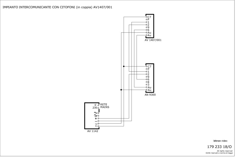 bitron wiring diagrams bitron intercom 2 x av1407 001 telephones tone call