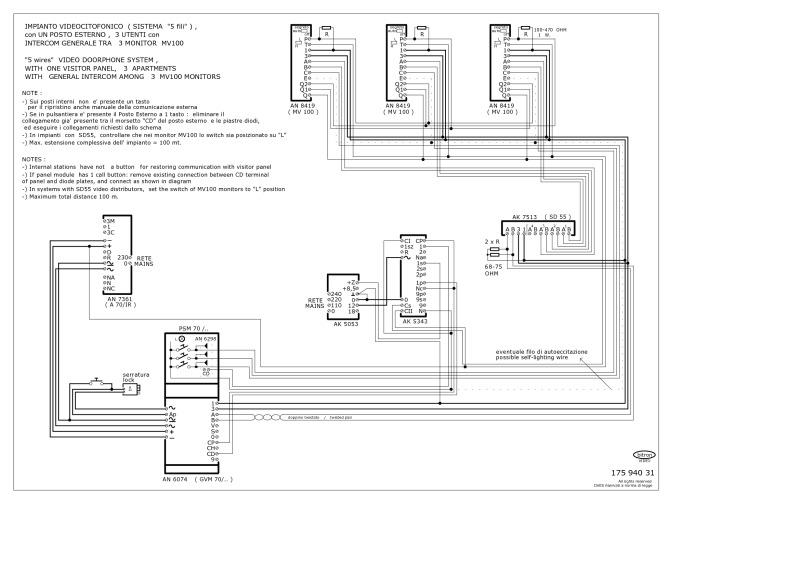 Bitron video intercom wiring diagram