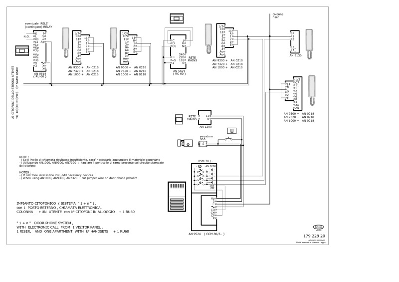 bitron wiring diagrams rh doorentrydirect com FLIR Intercom Wiring-Diagram Pacific Intercom System Wiring Diagram