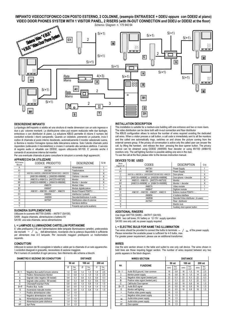 Bitron Wiring Diagrams 64 Et Diagram E Bus Video 1 Main Entrance 2 Riser In Out