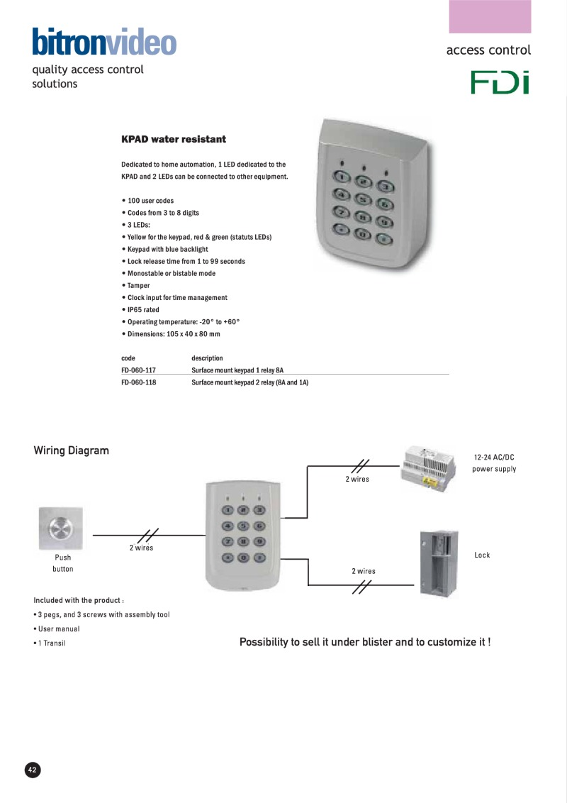 Bitron Installation Instructions Connecting Logisty Daitem Intercoms To Cb1 Control Panel For Art Fd 060 118