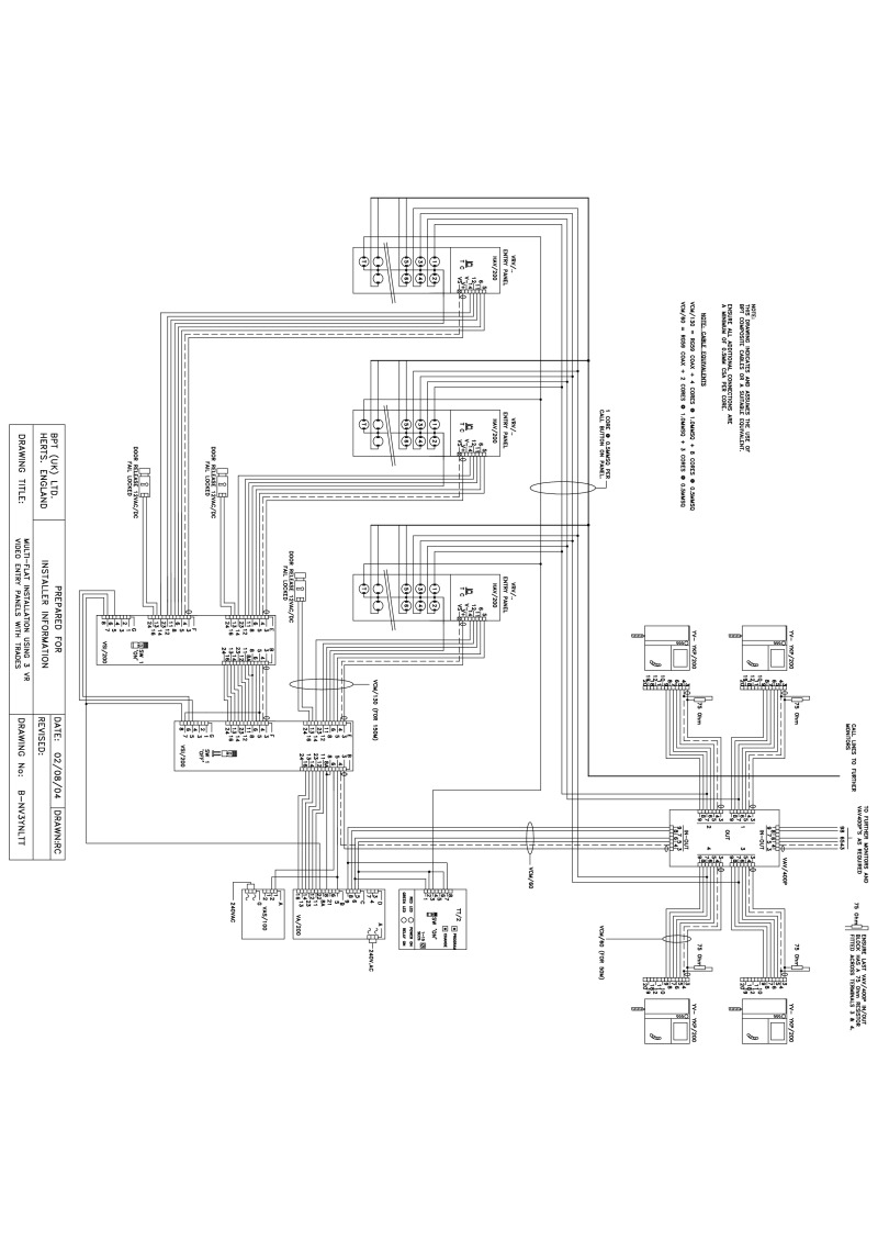 Bpt Wiring Diagrams System 200 Rd Diagram 3 X Multi Button Vr Video Entry Panels With Trades Lynea Monitors