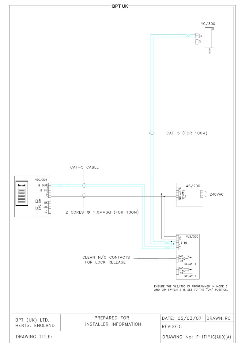 bpt wiring diagrams - system x1 on
