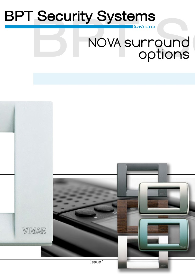 BPT VR to Nova Video Kit - 4 Way - Window: Silver Monitor