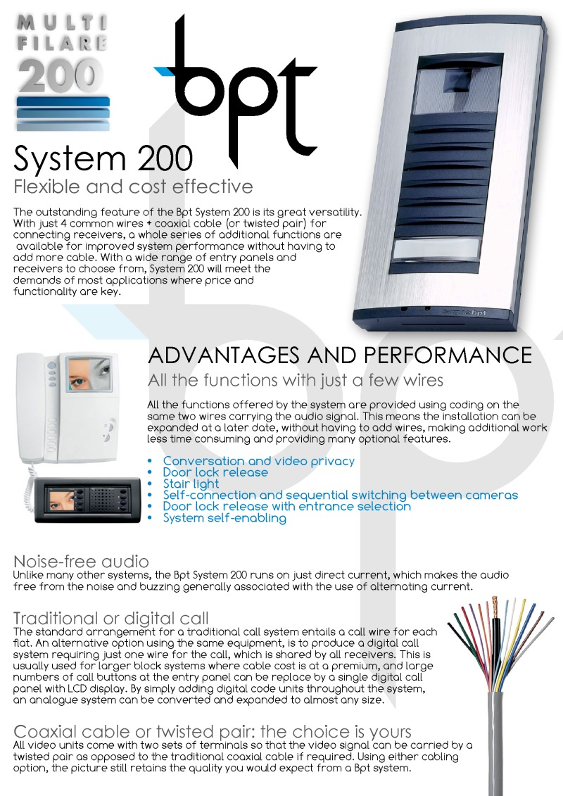 BPT - 24 Way Flush Video Vandal Resistant Panel for System 200