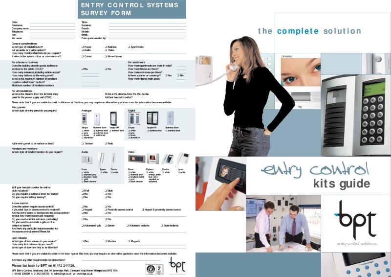Bpt Brochures