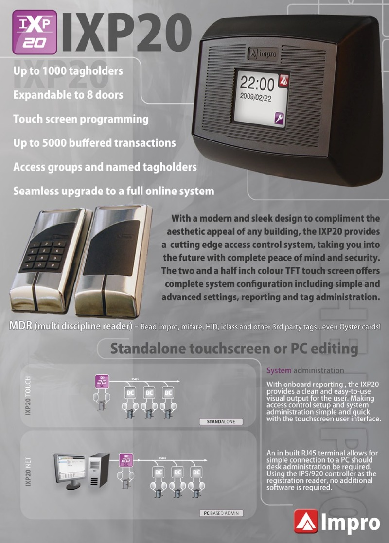 Bpt Ixp20 2 Impro 2 Door Security Kit Can Support 1 000