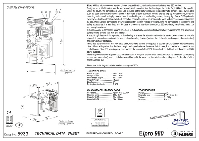 st_elpro980_gb bpt a200n wiring diagram diagram wiring diagrams for diy car repairs bpt a200n wiring diagram at readyjetset.co