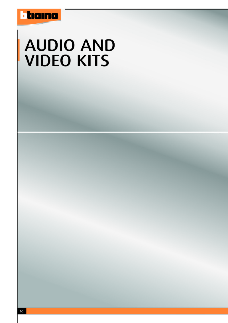 Bticino Audio & Video Kits Brochure