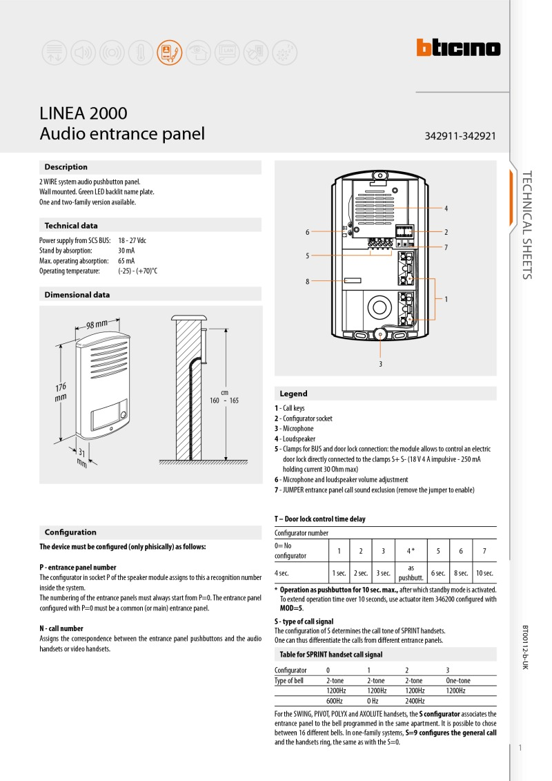 Index Of Acrobat Bticino Data Sheets C Bus Wiring System