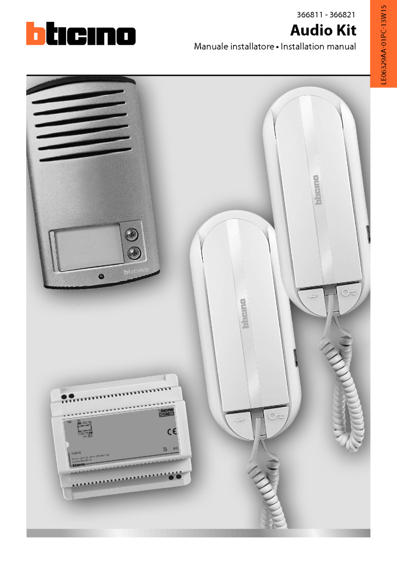 Bticino - 2 Way Linea 2000 Audio Kit with Sprint L2 Handset