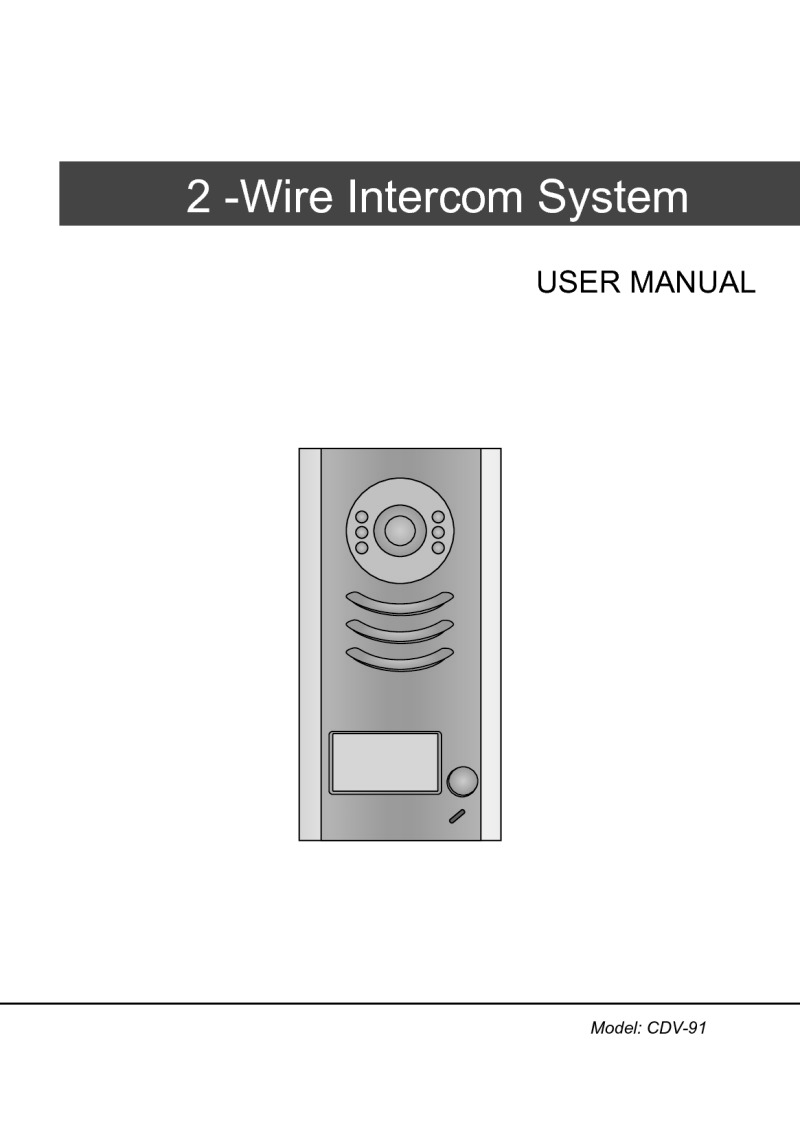 Cdvi Cdv91 2 Easy Door Station Zinc Alloy Adjustable Camera Connecting Logisty Daitem Intercoms To Cb1 Control Panel Instruction Manual For 2easy Panels