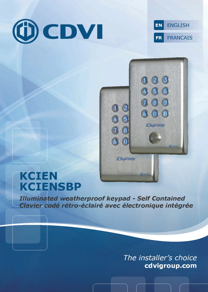 CDVI Instructions for KCIEN-SBP Keypad