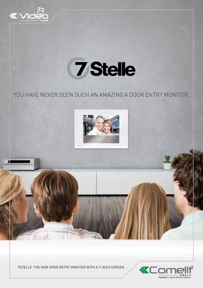 Comelit - 7Stelle Video Intercom Touch Screen Colour Monitor