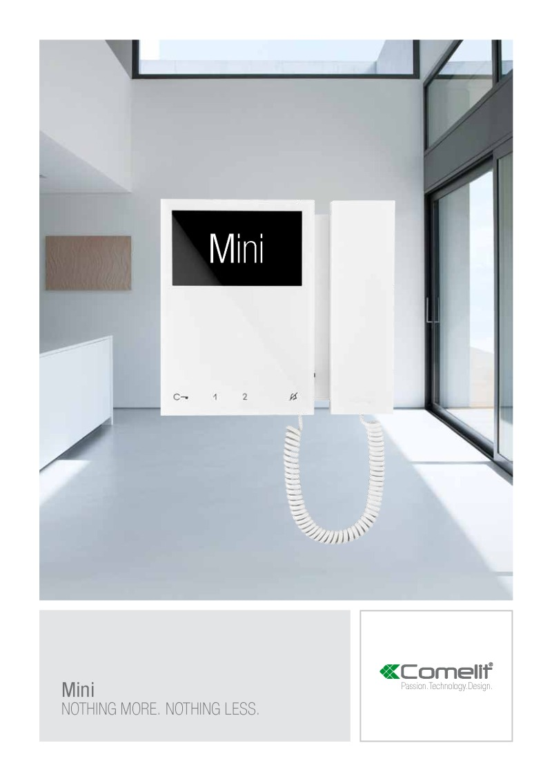 Comelit - Mini monitor catalogue (5 pages)