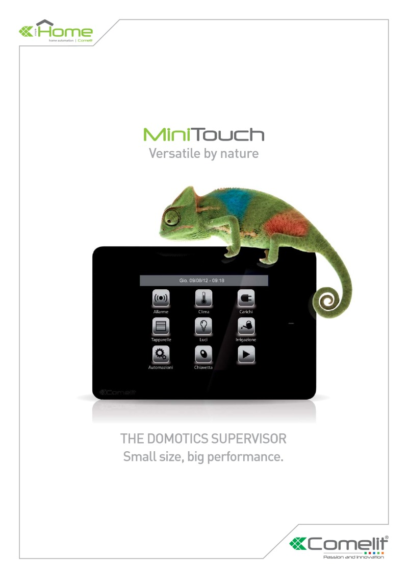 Comelit - Mini Touch Home Automation monitor catalogue (20 pages)