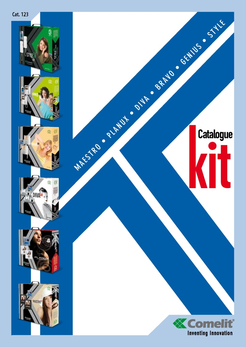 Comelit - Cat.123 Kits 2011 catalogue (20 pages)