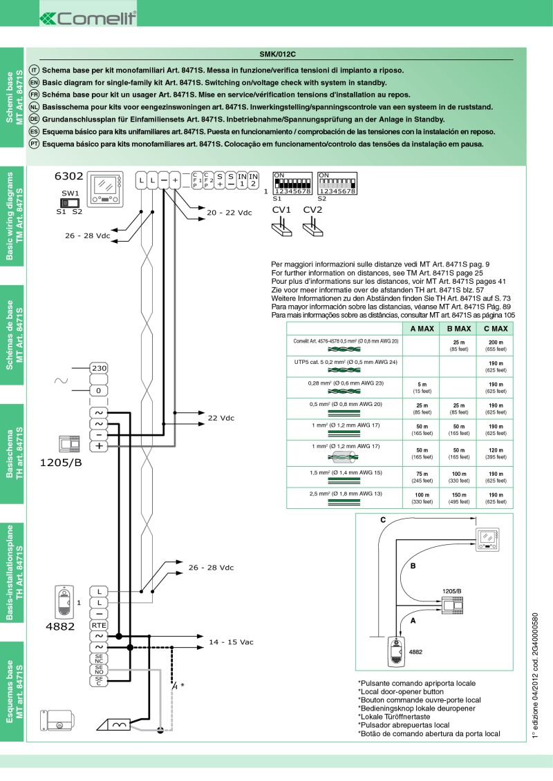 Comelit Intercom Wiring Diagram Not Lossing Audio Diagrams Rh Doorentrydirect Com Entry System