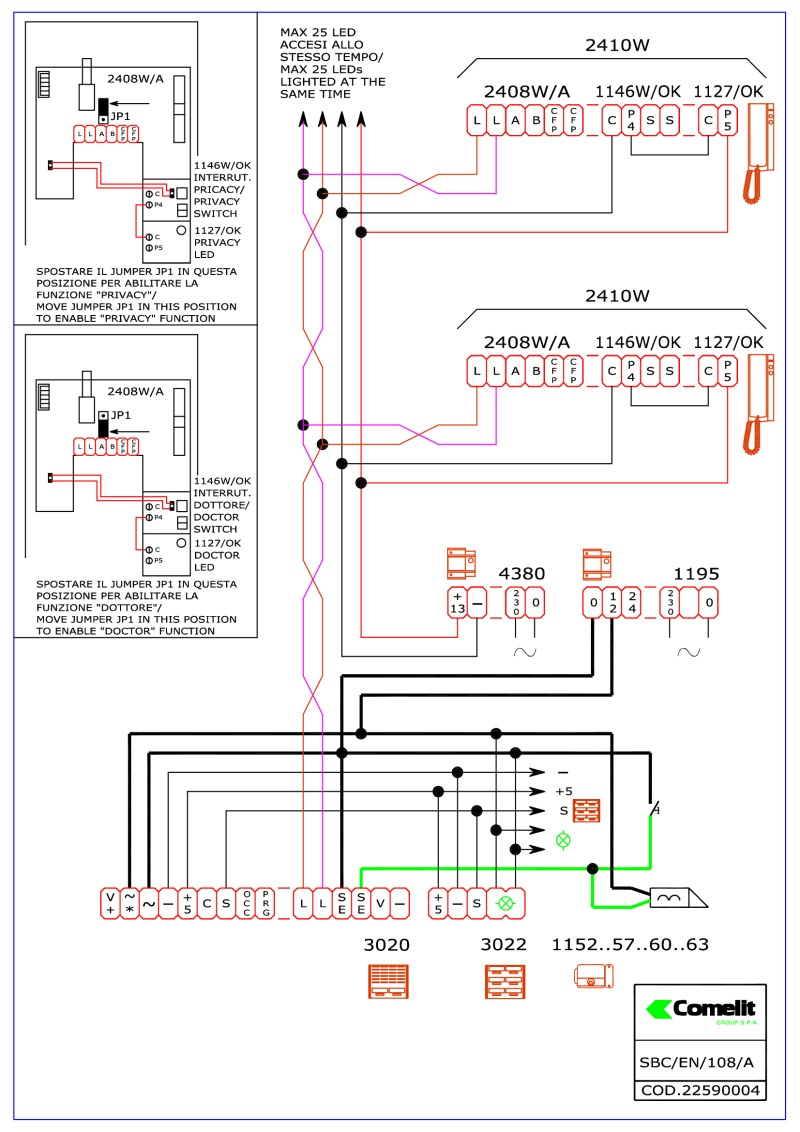 comelit wiring diagrams on