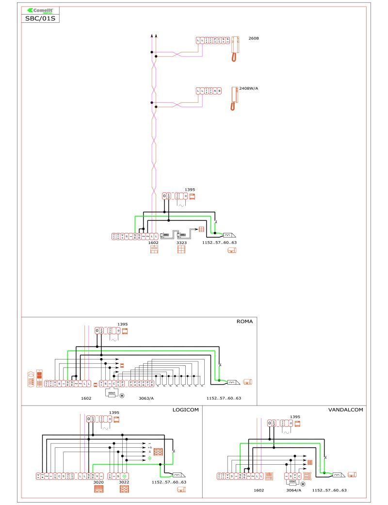 comelit inte wiring diagram