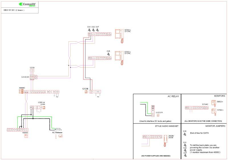 SB2V_01GC (2 bravo) comelit wiring diagrams comelit style 2 wiring diagram at aneh.co
