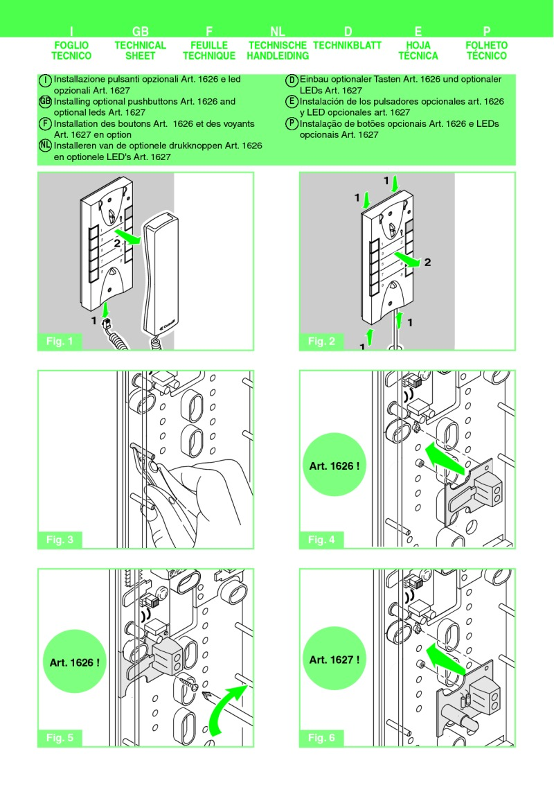 Comelit Installation Instructions Besta Van Wiring Diagram For Art1626