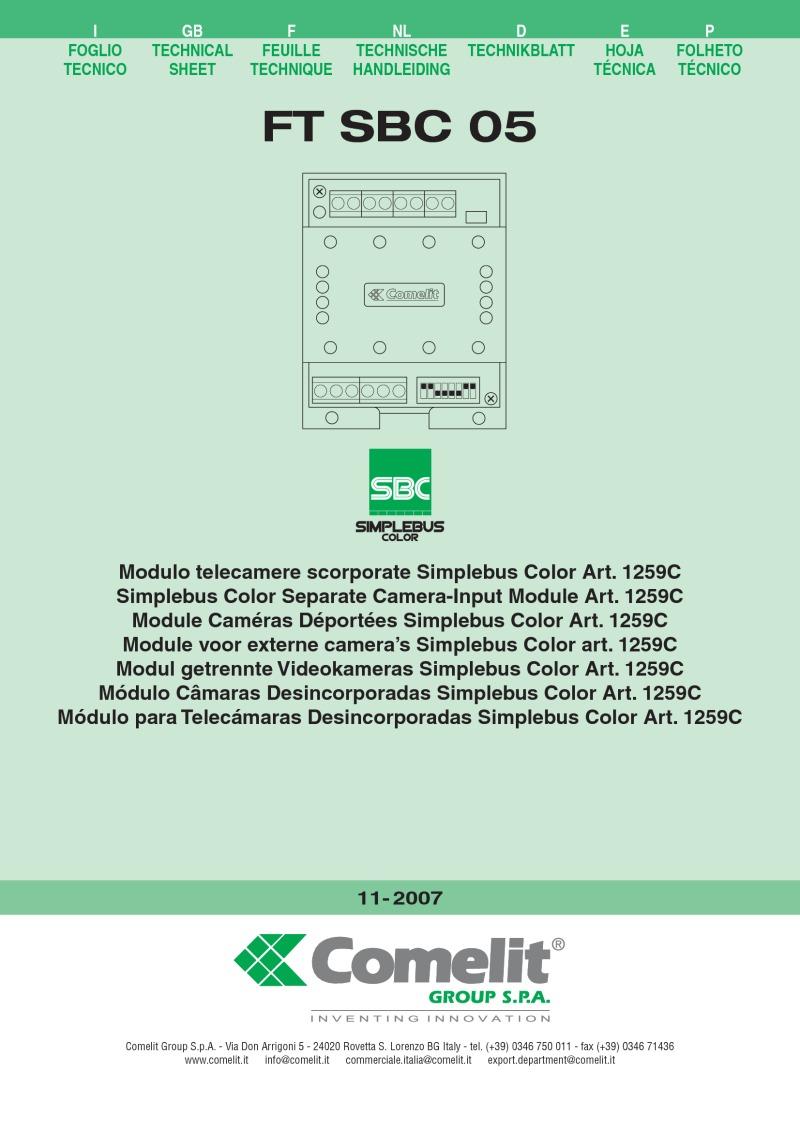 Color art by tec italy - Comelit Simplebus Colour Separate Camera Input Module Art 1259c Tec