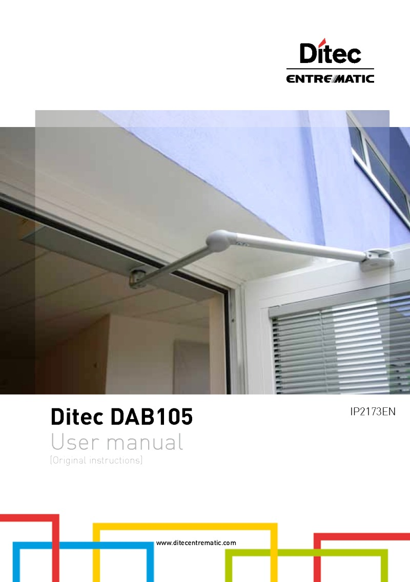 Ditec Swing Door Operator Manual