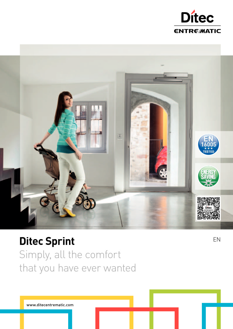 Ditec SPRINT door operator brochure