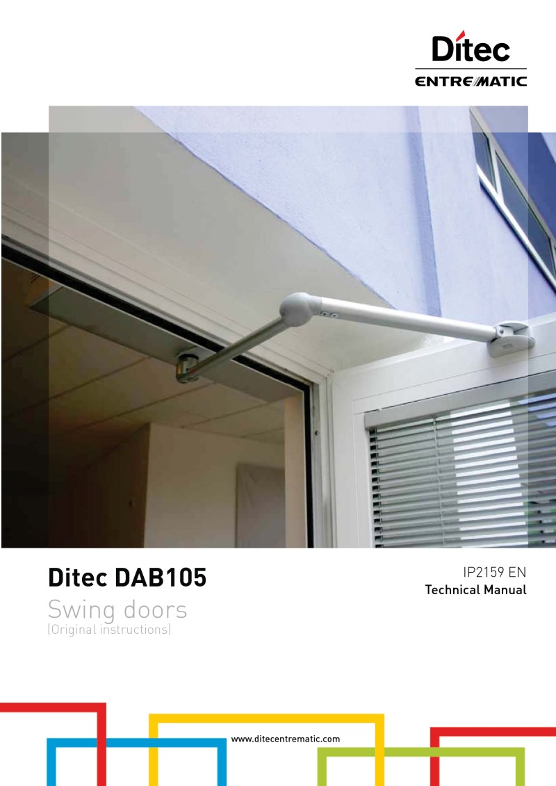 Ditec DAB105 technical manual