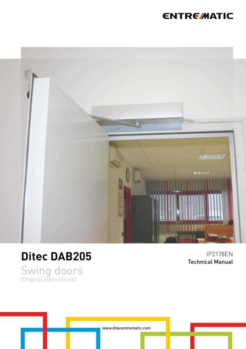 Ditec DAB205 technical manual
