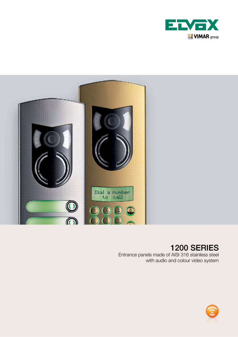 Elvox 1200 Series door entry panel