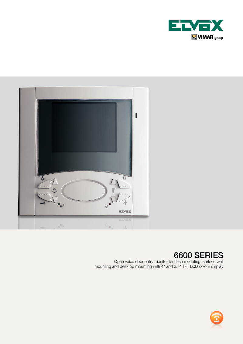 Elvox 6600 Series (monitor) brochure