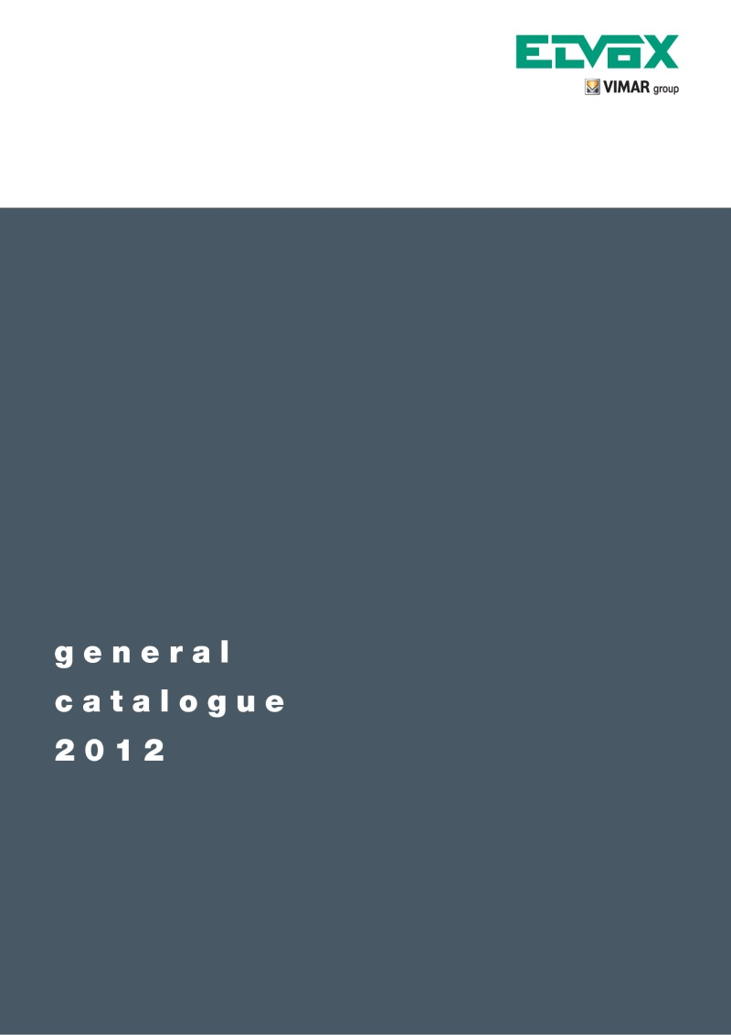 Elvox General Catalogue