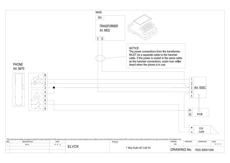 elvox wiring diagrams door bell diagram elvox 885h 240 1 way kit diagram